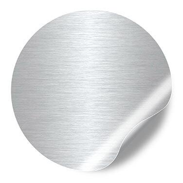 Etiquettes Autocollantes aspect aluminium brossé