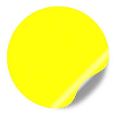 Etiquettes Autocollantes en vinyle fluorescent