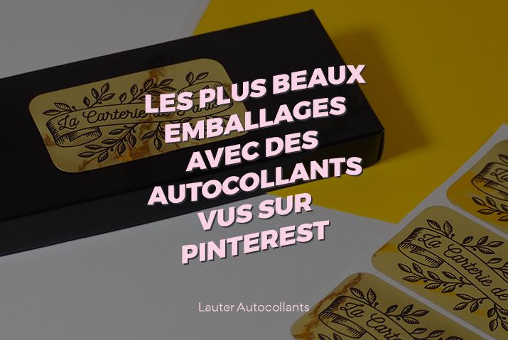 Les plus beaux emballages avec des autocollants vus sur Pinterest