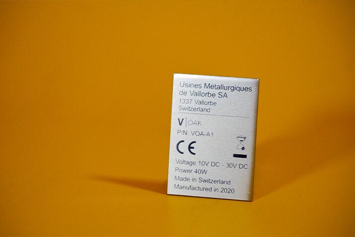 Photo de plaques en aluminium