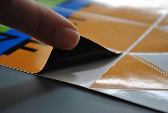 Photo d'autocollants en vinyle opaque